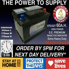 Mini Cooper 2001+ Car Battery 60.0Ah 075 065 027 EXTRA HEAVY DUTY SEALED 24HRDEL