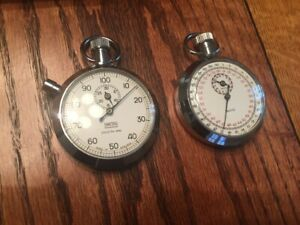 Two (2) Working Vintage SMITHS Stopwatches - Made in England - Cobra FIA Racing