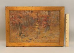 ELIZABETH HUNT BARRETT Arts & Crafts American Impressionist Landscape Painting