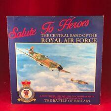 La Central Banda de La Real Air Force Saludo A Héroes 1990GB Vinilo LP Raf