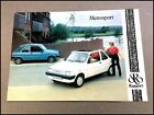 1981 1982 Rapport Austin Metro Metrosport Convertible Car Sales Brochure Folder