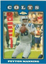 2008 Topps Chrome Blue Refractor #TC10 Peyton Manning  Colts  Broncos