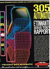 Publicité Advertising 1984 Peugeot 305 Automatic