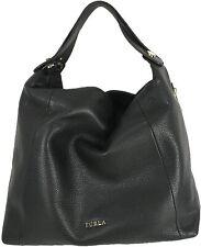 "FURLA ""Simplicity"" hobo / crossbody bag, black with gold hardware"