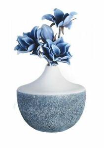 Casablanca Glasvase Baltic 28cm weiss blau Blumenvase Vase Glas 54616