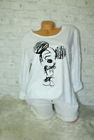 Italy New Collection Mickey Mouse Shirt weiß Gr. 36 38 40 blogger Pullover