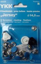 8 Botones De Presión sin Costura Jersey ' COLOR ' 14 MM TAPA AZUL CLARO 83526