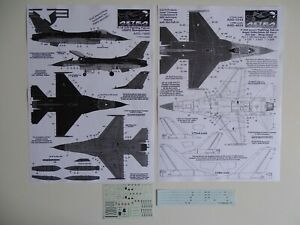 Astra decals 1/72 F-16A/B/C/D stencils (1)