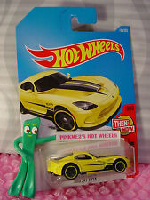 2013 SRT VIPER #199✰yellow Dodge; oh5✰✰THEN AND NOW✰2017 i Hot Wheels case J/K