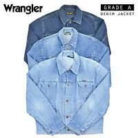 VINTAGE WRANGLER DENIM JACKET (GRADE A) VARIOUS COLOURS XXS XS S M L XL XXL