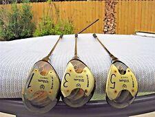 Vintage WILSON Laura Baugh Select 1-3-5 Wood Golf Wood Set / RH / STEEL SHAFT