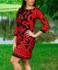 Shift Dress Size 10 Black & Red Floral