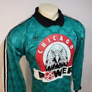 Vtg CHICAGO POWER Goalkeeper Jersey INDOOR Soccer Goalie Adidas Trefoil MENS XL
