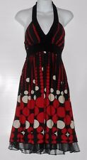 Speechless Junior Special Occasion Polka Dot Halter Dress Black & Red Large (L)