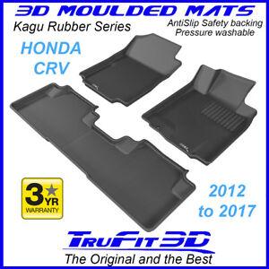 Fits Honda CR-V CRV 2012 to 2017 Genuine 3D moulded BLACK Rubber Car Floor Mats