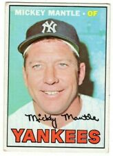 1967 Topps #150 Mickey Mantle - New York Yankees, Excellent Condition