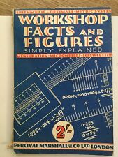 Old Engineering Workshop Book Calculations Measurements Percival Marshall 50's?