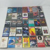 Rock Lot of 35 Cassettes, Classic, Progressive, Rock n Roll Albums