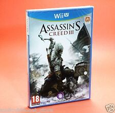 ASSASSIN'S CREED III 3 Wii U NINTENDO WiiU italiano nuovo
