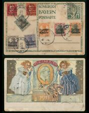 Mayfairstamps Germany 1910s Water Damaged Multifranked Stationery Card wwp447