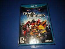 Transformers Prime: The Game - (Nintendo Wii U) NEW + BONUS CLEAR GAME PROTECTOR