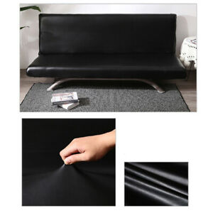Waterproof PU Leather Sofa Cover Slipcover Sofa Protector Elastic Black