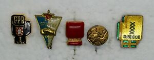 Boxing badges lot of 5