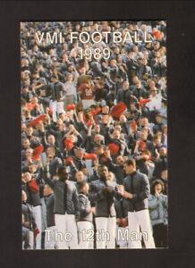 VMI Keydets--1989 Football Pocket Schedule--Budweiser