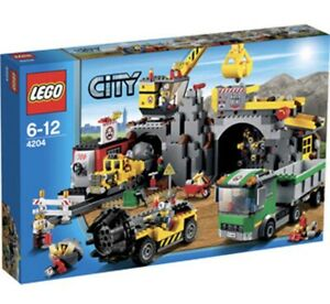 LEGO City 4204 The Mine Retired + Instructions Complete Construction No Box 6-12