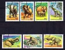 Animaux Eléphants Tanzanie (49) série complète 7 timbres oblitérés