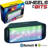 Neu Boombar Tragbar Bluetooth Funklautsprecher mit Eingebautem Leds & Aux