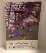 "Heartfelt Friends Jack And Jill 22"" Dolls Pattern - The Gingham Goose"