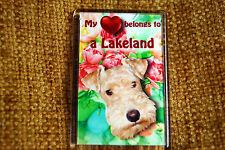 Lakeland Terrier Gift Dog Fridge Magnet 77 x 51mm Birthday Gift Mothers Day Gift