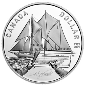 2021 Proof Silver Dollar - 100th Anniversary of Bluenose - Low Mintage of 30,000