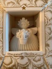 Margaret Furlong 2� Flower Basket Porcelain Bisque Angel With Easel 1993 Nib