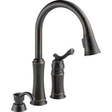 Delta Kitchen Faucet Single-Handle Pull Out Spray Wand Venetian Bronze