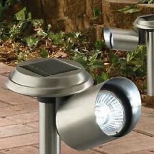 Ad Energia Solare Acciaio Inox LED Da esterno Faretti Sentiero Luci