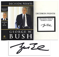 George W. Bush ''Decision Points'' Hand-Signed by President Bush