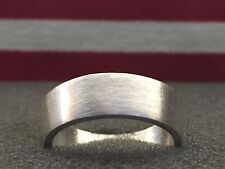 24K Pure Silver Coin Ring | Brushed Style Silver Ring | Sizes 2-15