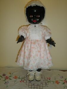 Hard Plastic Black Pedigree Toddler Doll 1950s'