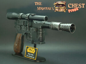 Star Wars Han Solo DL-44 Blaster Prop Replica & Stand - Painted by TMC Team
