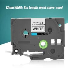 For Brother TZe-231 TZe-131 P-Touch Black On White Laminated Label Tape 12mm 8m