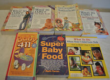 LOT 7 BABY BOOK 411 WHAT TO EXPECT EXPECTING FIRST YEAR SECOND TODDLER SICK FOOD