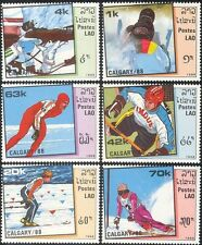 Laos 1988 Olympic Games/Olympics/Shooting/Skiing/Ice Hockey/Skating 6v set b8406