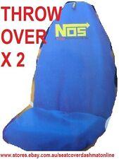 2 BLUE NOS THROW OVER,SEAT COVER,MITSUBISHI MAGNA,LANCER,CORDIA,TRITON,VERADA