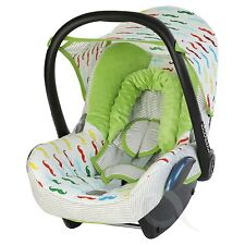 Replacement Seat Cover fits Maxi Cosi CabrioFix 0+ FULL SET green/mustache