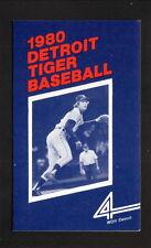 Dave Rozema--Detroit Tigers--1980 Pocket Schedule--WDIV
