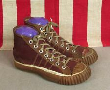 Vintage 1920s Merit Brown Canvas Youth Basketball Sneakers Sz.1 Antique Display