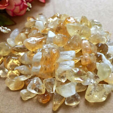 4-6mm Natural Citrine Yellow Quartz Crystal Stone Rock Polished Gravel