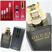 GUCCI INTENSE OUD EDP Unisex Authentic SAMPLE 2ml 3ml 5ml 10ml Glass Spray